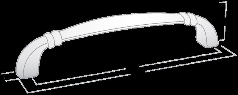 3324 Castella Nostalgia Century Chrome Plated 96mm C Pull Handle