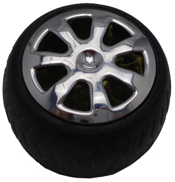 Car Tyre and Mag Wheel Soft Rubber 35mm Knob