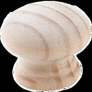 Furnware Dorset Acacia Pine 25mm Round Timber Knob