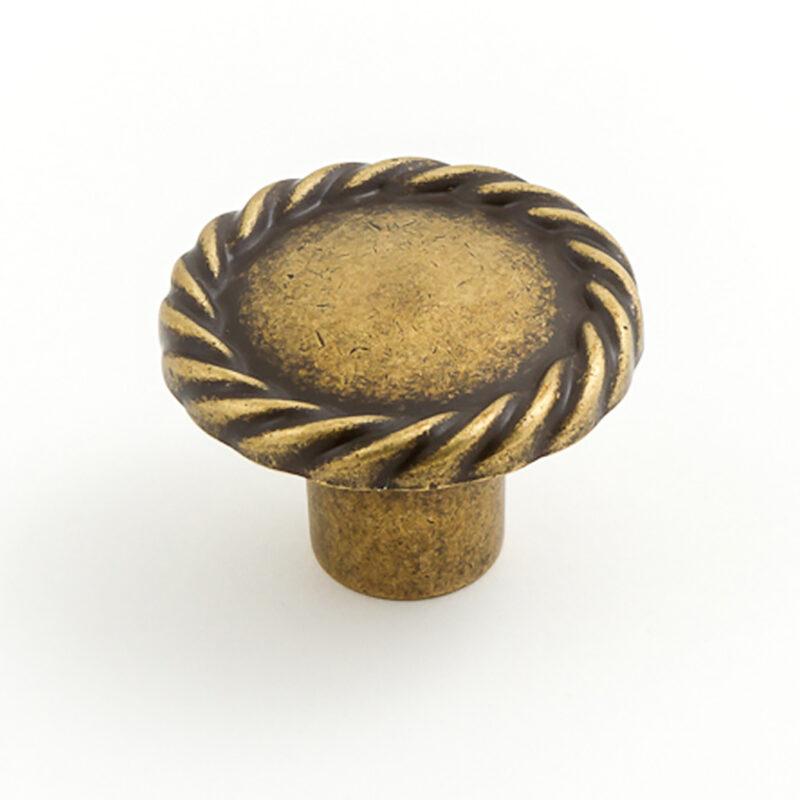 Castella Heritage Regent Antique Brass 34mm Round Knob 748 034 03 1