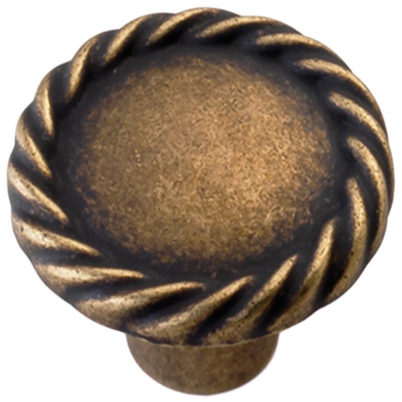 Castella Heritage Regent Antique Brass 34mm Round Knob 748 034 03