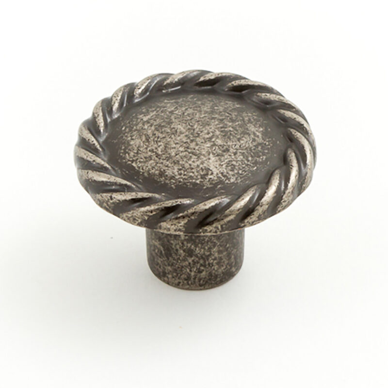 Castella Heritage Regent Rustic Tin 34mm Round Knob 748 034 86 1