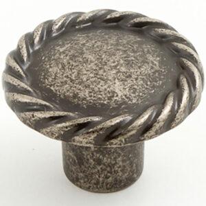 Castella Heritage Regent Rustic Tin 34mm Round Knob 748 034 86