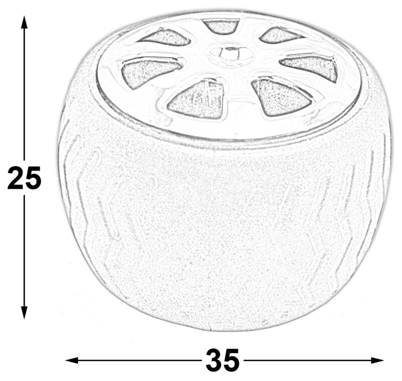Mancave Tyre Rim Knob Byw Ld 084 Blkslv Diagram