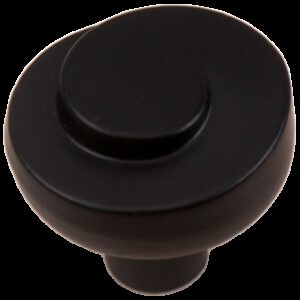 Cordoba Collection Nautilus Spiral Matt Black 30mm Knob