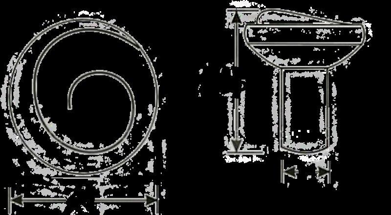 Cordoba Collection Nautilus Spiral Matt Black 30mm Knob
