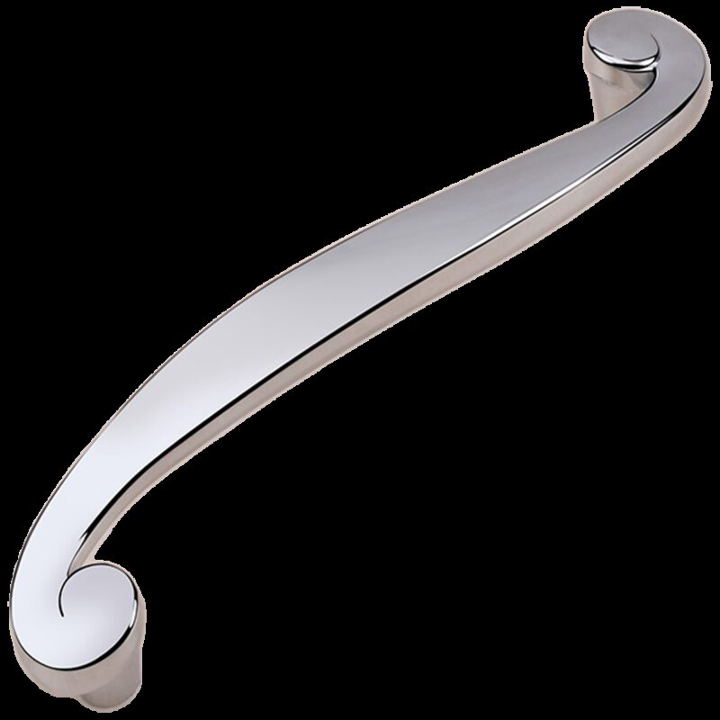 Cordoba Collection Nautilus Spiral Polished Chrome 128mm Handle