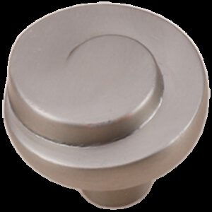 Cordoba Collection Nautilus Spiral Brushed Nickel 30mm Knob