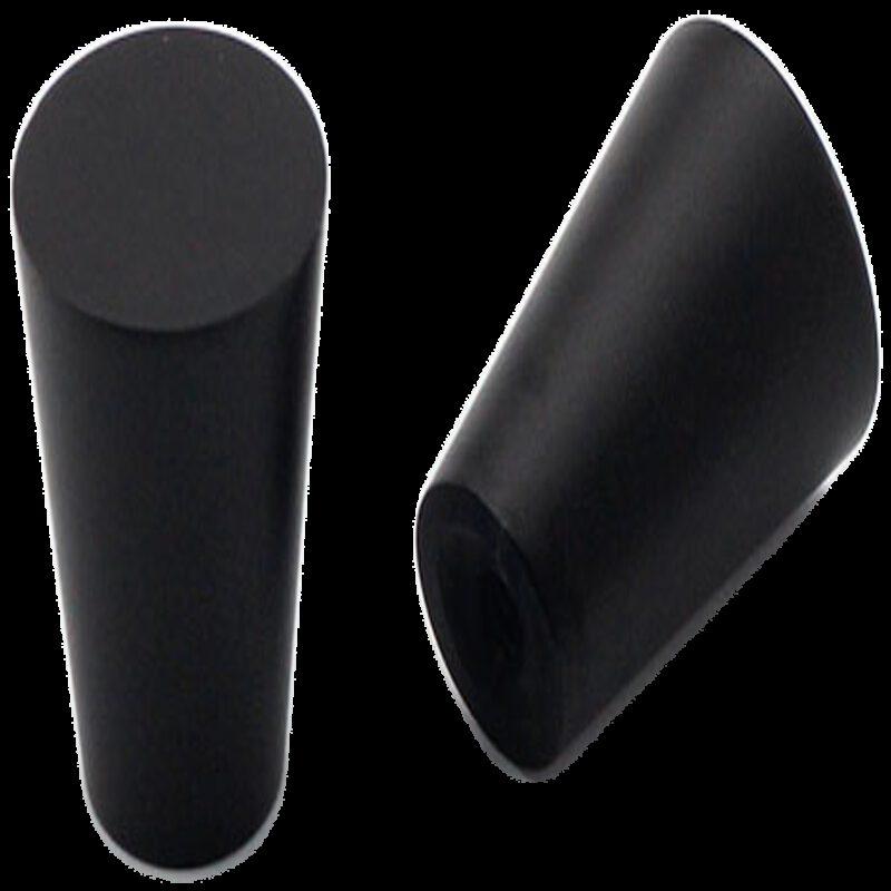 Sencillo Eleganta Cierge Matt Black 19mm Cone Knob
