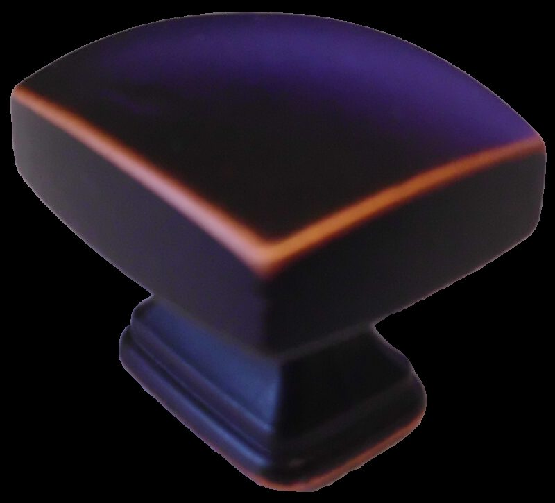 3601 Small Town Collection Antique Black With Red Copper Highlight 30mm Rectangle Knob