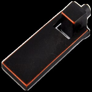 Small Town Collection Antique Black with Red Copper Highlight 54mm Swivel Rectangular Drop Pull