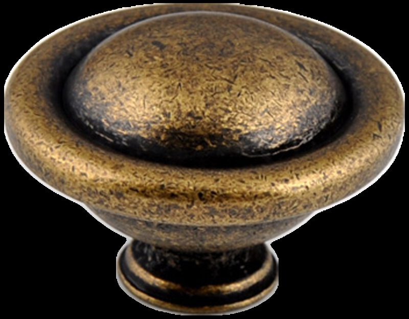 Small Town Collection Bronze 35mm Fluted Round Mushroom Knob