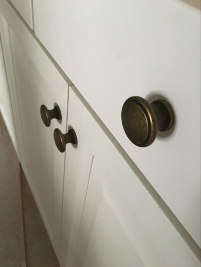 3725 Small Town Collection Bronze 32mm Fluted Round Knob