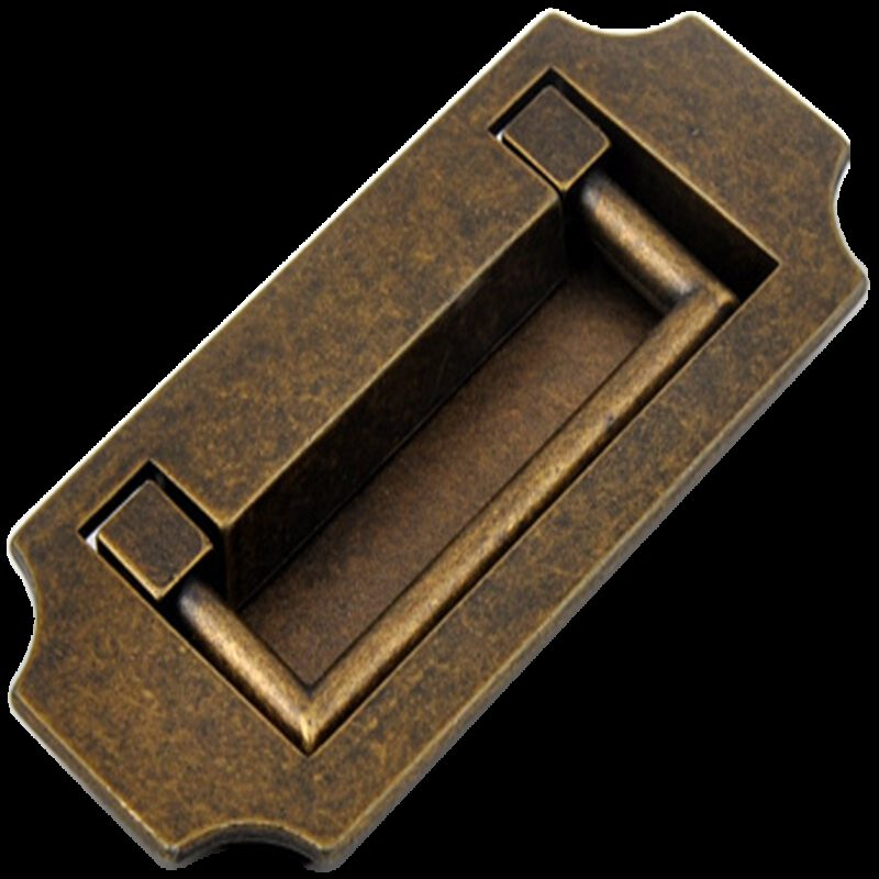 Small Town Collection Bronze 82mm Inset Swivel Rectangle Drop Pull
