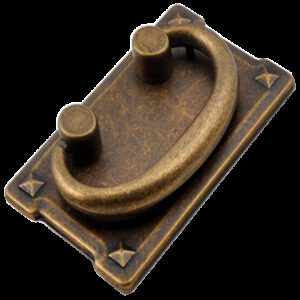 Small Town Collection Bronze 76mm Swivel Ring Drop Pull