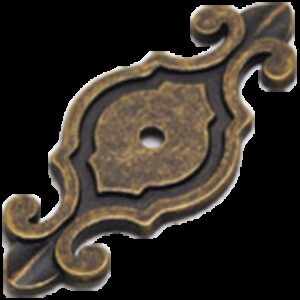 Small Town Collection Bronze 74mm Fleur De Lis Escutcheon Back Plate for Knobs