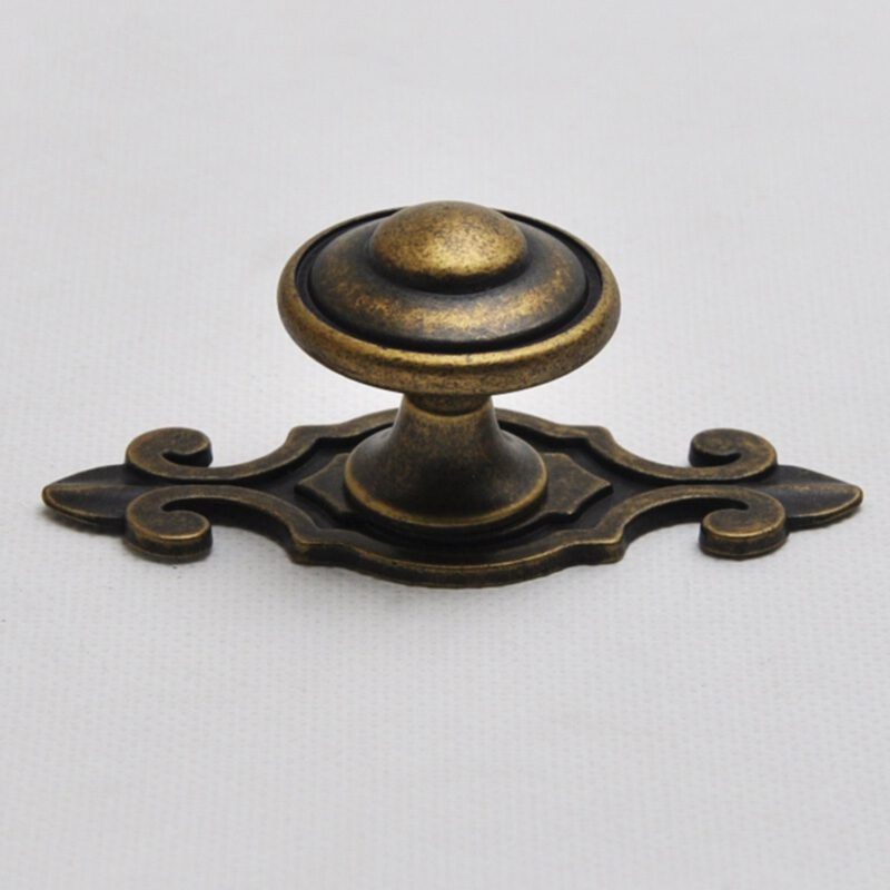 Small Town Collection Bronze 30mm Fluted Round Mushroom Knob