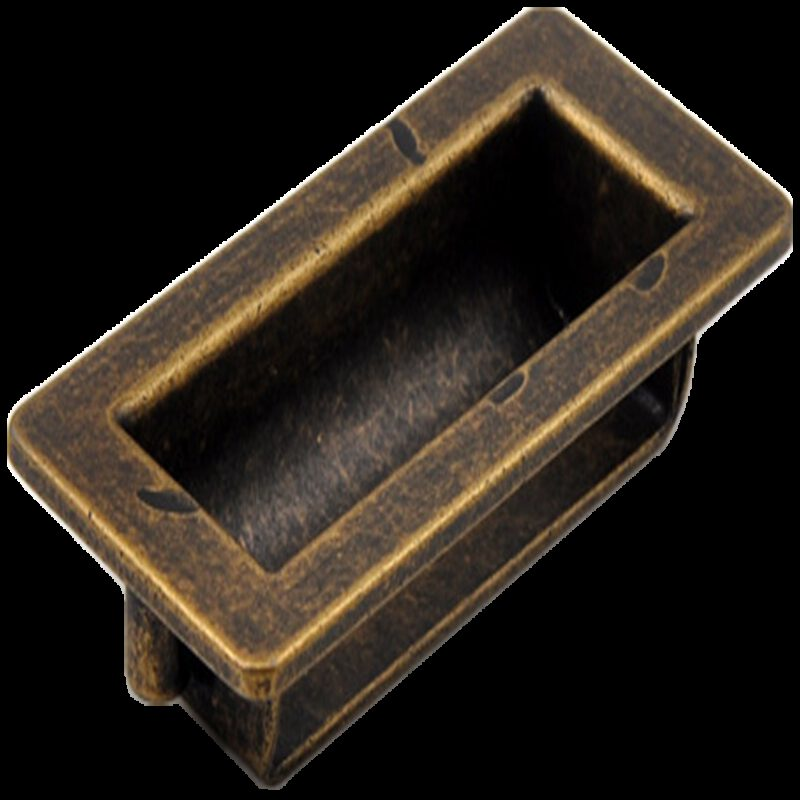 Small Town Collection Bronze 70mm Recessed Flush Pull