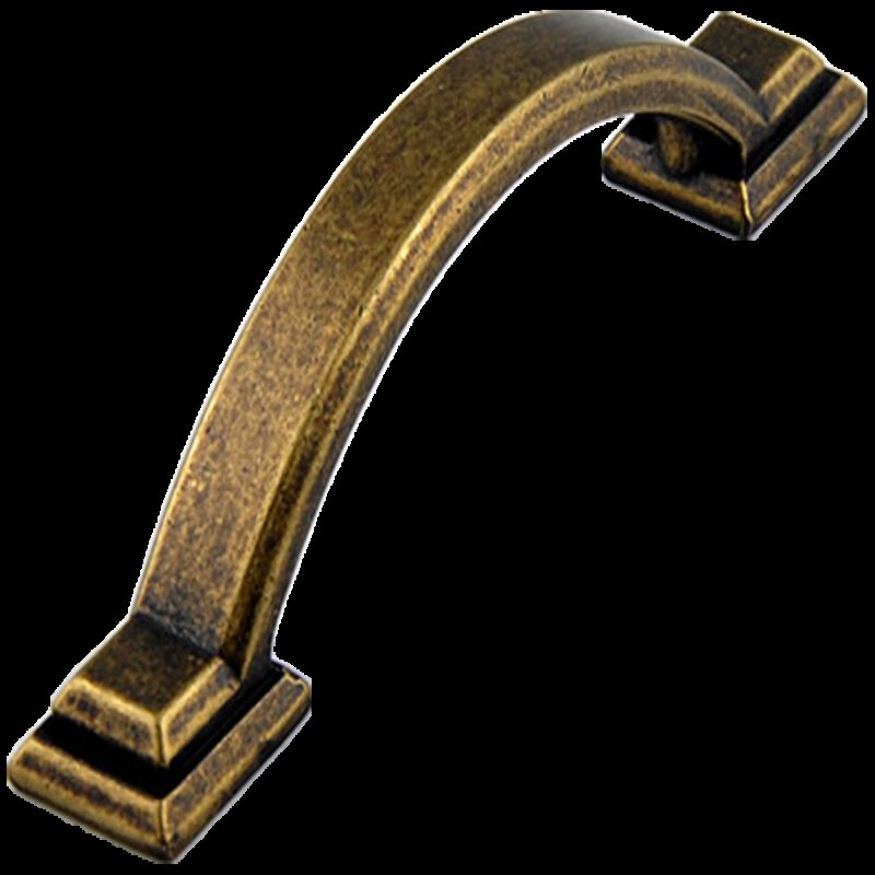 Small Town Collection Bronze 76mm C Pull Bow Handle with Square Base