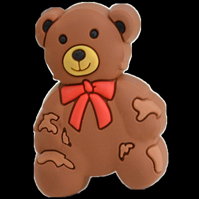 Adorable Light Brown Teddy Bear 52mm Soft Rubber Knob