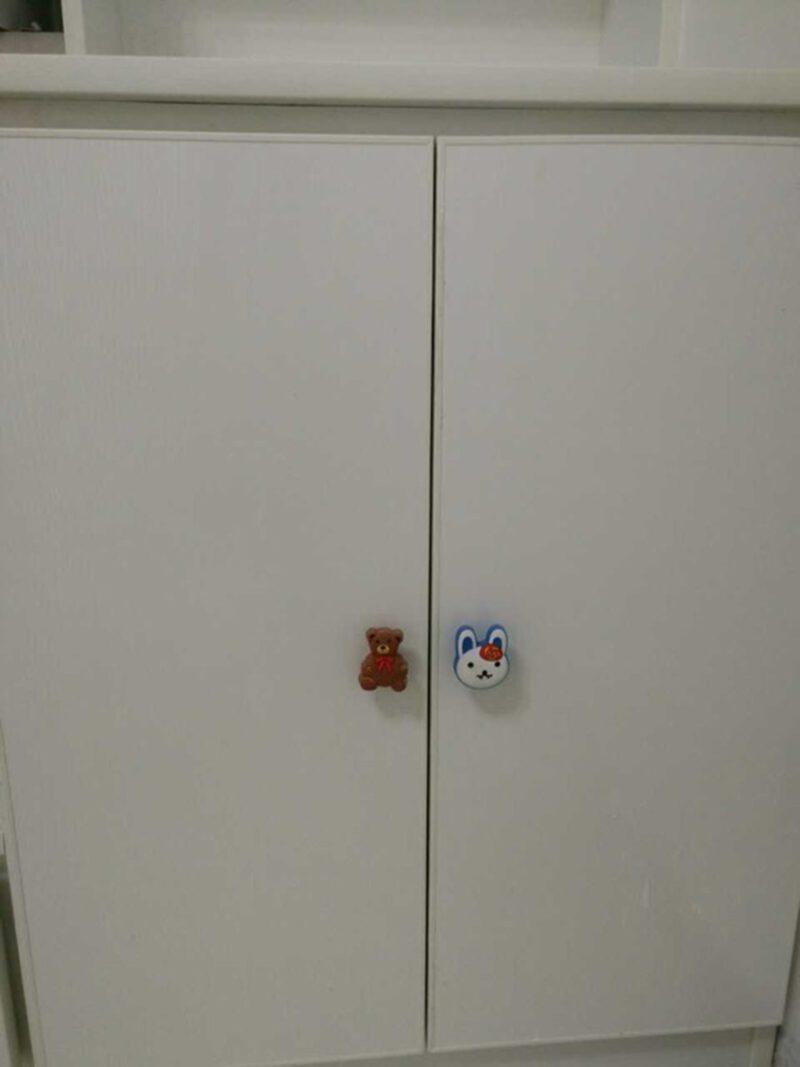 3871 Adorable Light Brown Teddy Bear 52mm Soft Rubber Knob