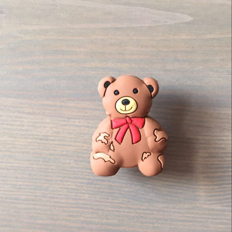 Adorable Light Brown Teddy Bear 52mm Soft Rubber Knob