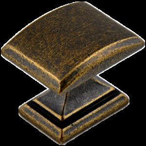 Small Town Collection Bronze 33mm Rectangle Knob with Square Base