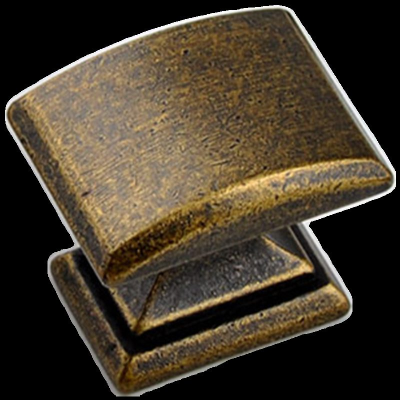 3835 Small Town Collection Bronze 33mm Rectangle Knob With Square Base
