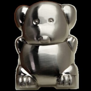 Adorable Lucky Dog Brushed Stainless Steel 31mm Knob