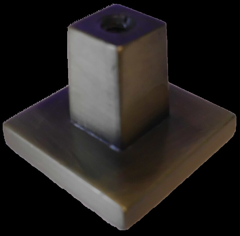 Celosia Collection Light Brushed Bronze 27mm Square Inlay Knob
