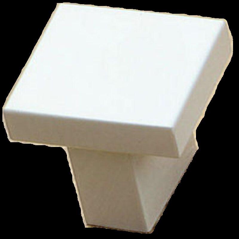 White 25mm Square T Knob