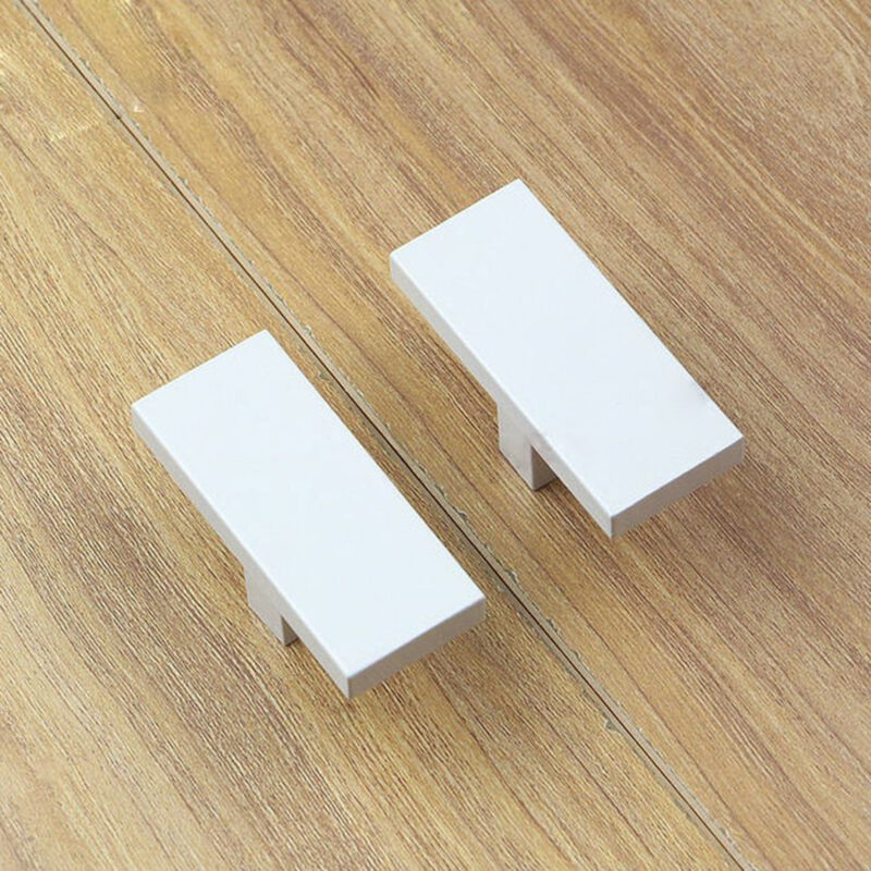3910 White 60mm Rectangular T Knob