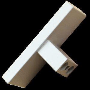 White 60mm Rectangular T Knob
