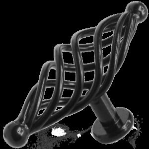 French Provincial Black 100mm Birdcage T Knob