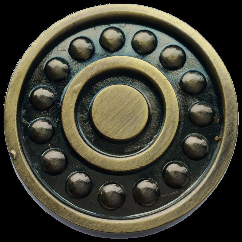 Ball Bearing Antique Bronze 31mm Round Knob