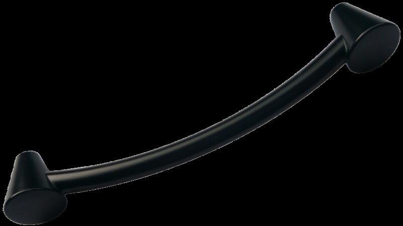 Sencillo Eleganta Cierge Matt Black 128mm Cone D Pull Handle