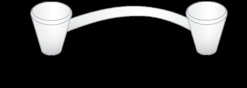 3944 Sencillo Eleganta Cierge Matt Black 128mm Cone D Pull Handle