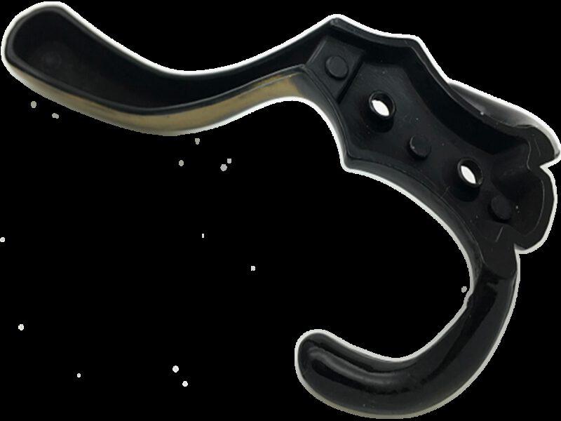 3996 Fabrica Antique Brass 143mm Three Prong Coat Hook
