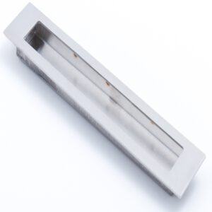 Castella Minimal Slide Stainless Steel 200mm Recessed Rectangle Flush Pull Handle