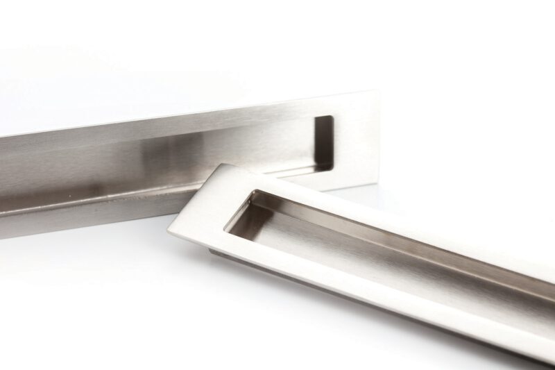 Castella Minimal Slide Stainless Steel 250mm Recessed Rectangle Flush Pull Handle