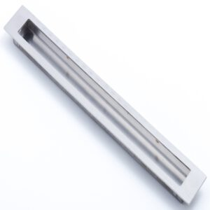 Castella Minimal Slide Stainless Steel 300mm Recessed Rectangle Flush Pull Handle