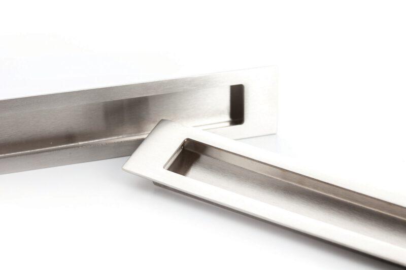 4194 Castella Minimal Slide Stainless Steel 300mm Recessed Rectangle Flush Pull Handle