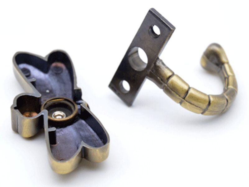 Mazari Dragonfly Antique Brass 60mm Single Prong Coat Hook