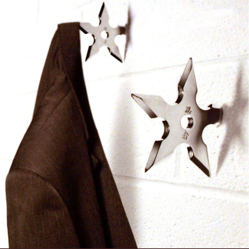 Ninja Shuriken Throwing Star Decorative 102mm Coat Hook