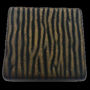 4218 Aceno Ripple Dark Bronze 26mm Square Knob