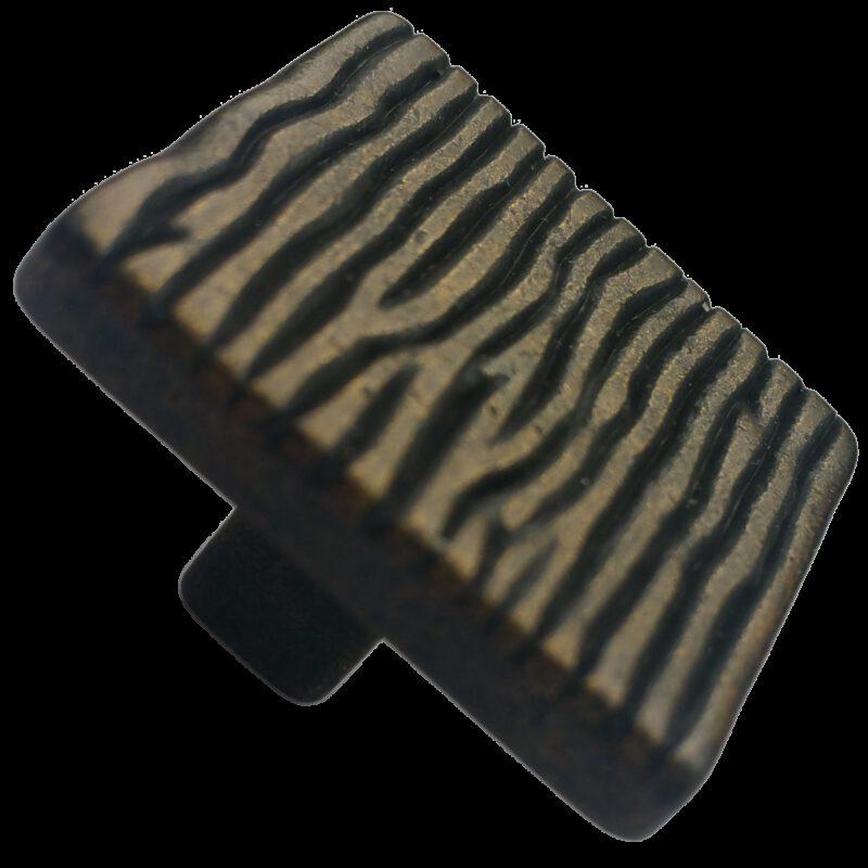 4219 Aceno Ripple Dark Bronze 26mm Square Knob