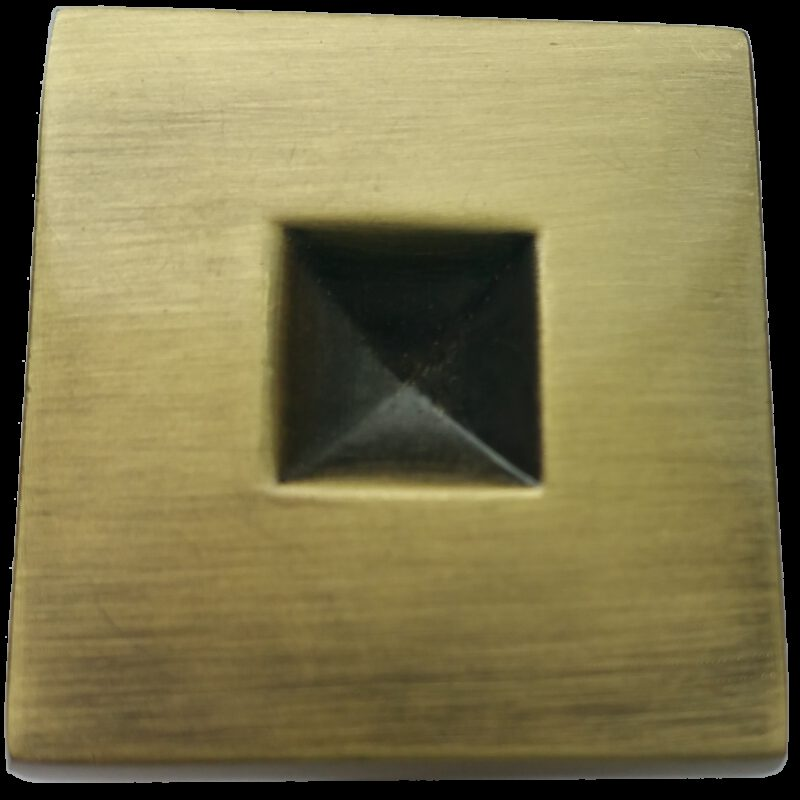 4251 Celosia Collection Caisson Light Brushed Bronze 30mm Square Knob