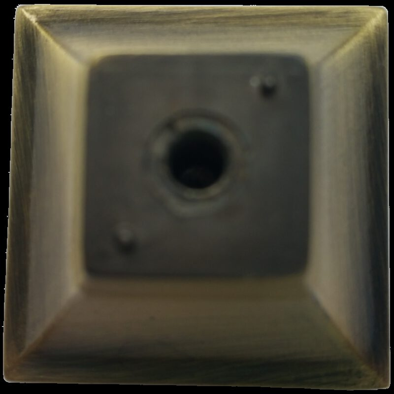 4254 Celosia Collection Caisson Light Brushed Bronze 30mm Square Knob