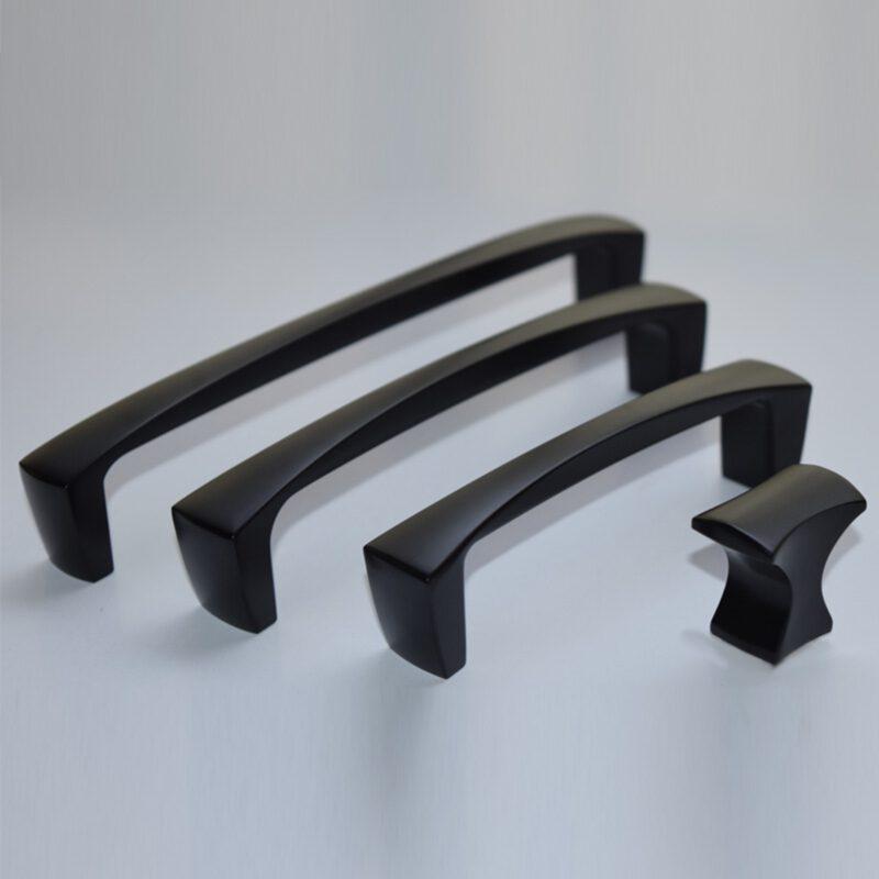 Sencillo Eleganta Aspero Matte Black 160mm Concave D Pull Handle