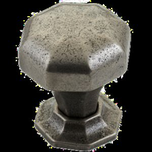 Furnware Dorset Montrose Collection Pewter 32mm Cast Iron Octagonal Knob